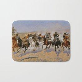 "Frederic Remington Western Art ""Dash For The Timber"" Bath Mat"
