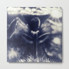 Flower on the hill Metal Print