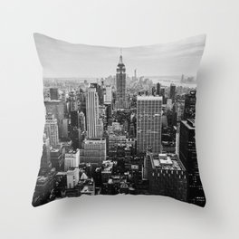Black & White NYC Skyline Throw Pillow