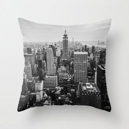 Black & White NYC Skyline Throw Pillow
