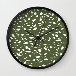 Terrazo design patterns Wall Clock