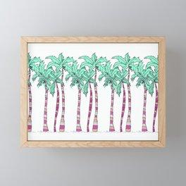 Palm Trees Framed Mini Art Print