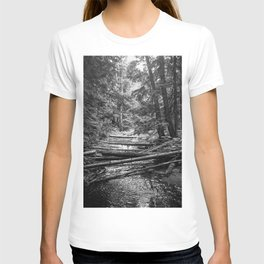 Enchanted Forest in black and white T-shirt