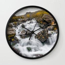 Cwm Idwal River Snowdonia Wall Clock