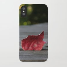 Red Leaf Slim Case iPhone X