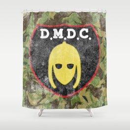 DMDC Detectorists Logo Distressed Shower Curtain
