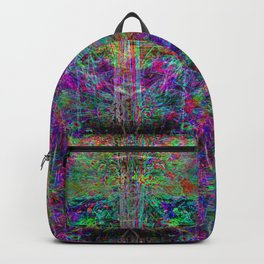 Senile Scream (abstract, psychedelic, visionary, glowing edges) Backpack