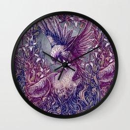 Romance Wolf Wall Clock
