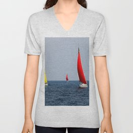 Fun Sail Three Unisex V-Neck