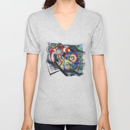 A Delaunay crumpled. Unisex V-Neck