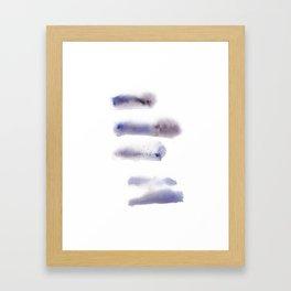 150527 Watercolour Shadows Abstract 143 Framed Art Print