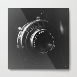 A Close-up of a Vintage Kodak Camera | Black & White Photography | Product Photography | Photo Print | Fine Art Print Metal Print