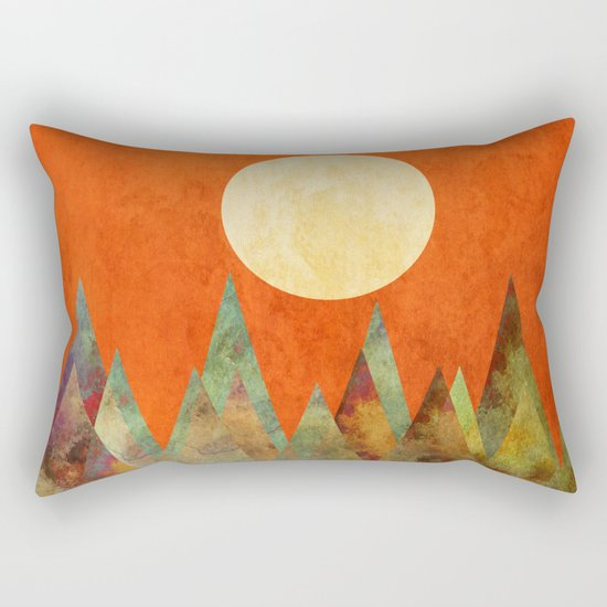 Many Moons Ago, Abstract Landscape Art Rectangular Pillow