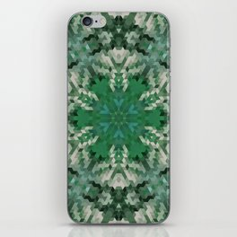 Green mandala  2 iPhone Skin