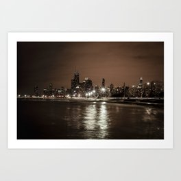 Chicago Nights Art Print