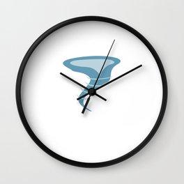 Tornado Watcher - Storm Chasing Tornado Wall Clock