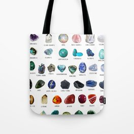 crystals gemstones identification Tote Bag