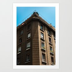 Building and Sailing Art Print