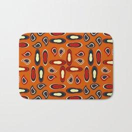 Orange paisley Bath Mat