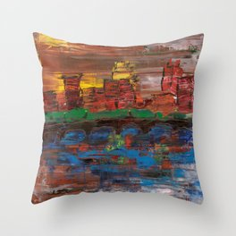 Stone Arch of Minneapolis Throw Pillow