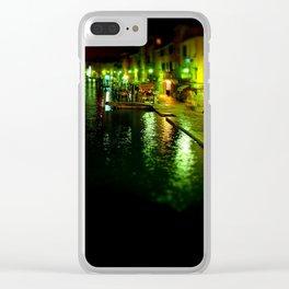 Venice Tilt shift Clear iPhone Case