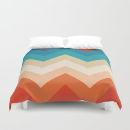 Vintage 70s Adventure on the Mountains Duvet Cover