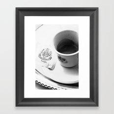 Coffee in Venice Framed Art Print