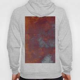 Cracked Amber - Textured abstract painting in amber and blue Hoody