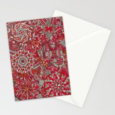 Red and White Stationery Cards