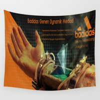 medical Wall Tapestries featuring Badidas Genen Dynamik Medical by EverEvolvingEpithet