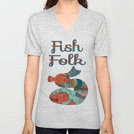 Fish Folk Unisex V-Neck