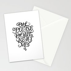 Please Don't (white version) Stationery Cards