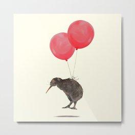 Kiwi Bird Can Fly Metal Print