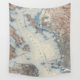 Vintage Map of San Francisco California (1914) Wall Tapestry