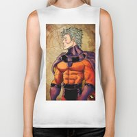 magneto Biker Tanks featuring magneto by Brian Hollins art