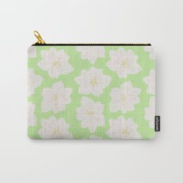 Watercolor Magnolias in Key Lime Carry-All Pouch