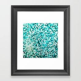 Pool Tiles Framed Art Print