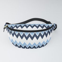 Navy + White | Bel Air Modern Flame Stitch Pattern Fanny Pack