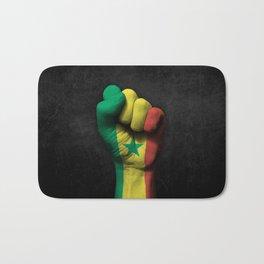 Senegal Flag on a Raised Clenched Fist Bath Mat