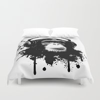 business Duvet Covers featuring Monkey Business - White by Nicklas Gustafsson