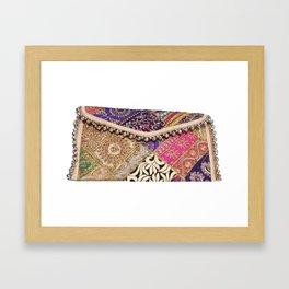 Hippie Vintage Banjara Boho Clutch Sling Bag Framed Art Print
