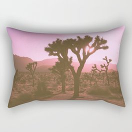 Rosy Haze In Joshua Tree Rectangular Pillow