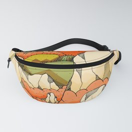 Mountains and cactus Fanny Pack