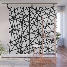 Lazer Dance Black on White Wall Mural