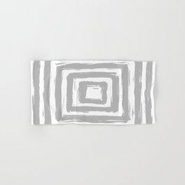 Minimal Light Gray Brush Stroke Square Rectangle Pattern Hand & Bath Towel