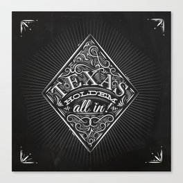 Diamonds texas holdem chalk Canvas Print