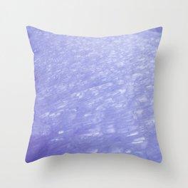 Glittery Ice Throw Pillow