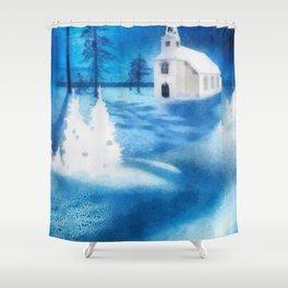 Christmas Serenade Shower Curtain