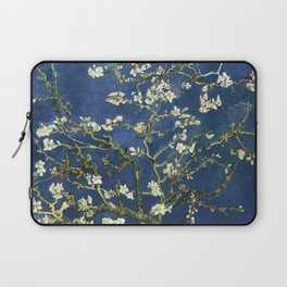 Almond Blossom - Vincent Van Gogh (dark blue) Laptop Sleeve