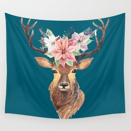 Winter Deer IV Wall Tapestry